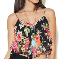 Hanki Rose Print Tank | Wet Seal