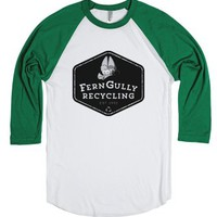 FernGully Recyling-Unisex White/Evergreen T-Shirt