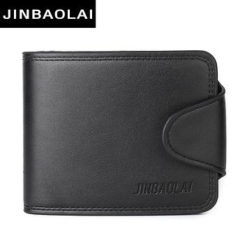 Men Leather Wallets Male Purse Money Credit Card Holder Case Coin Pocket Money Billfold  Clutch
