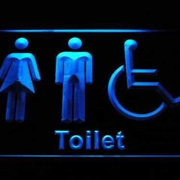 Unisex with Handicap Restroom Neon Sign (LED)