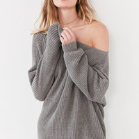 Silence + Noise Asymmetrical One-Shoulder Sweater | Urban Outfitters