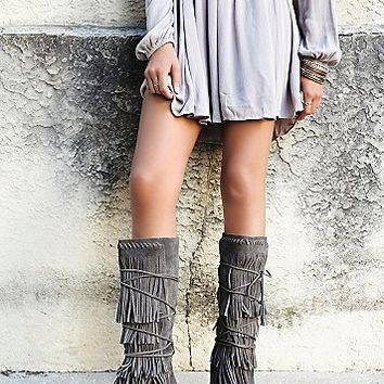 faryl robin + free people Womens Songbird Fringe Boot