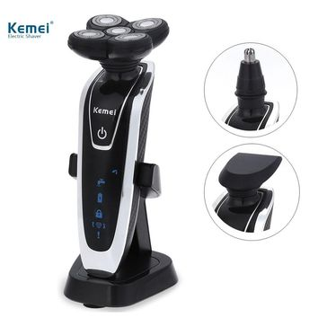Kemei KM-5886 3 in 1 Rechargeable Electric Shaver 5 Blade Washable Electric Shaving Razor for Men Face Care 5D Floating