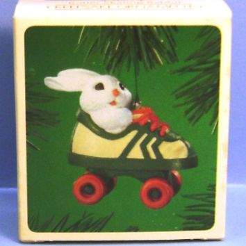 1984 Roller Skating Rabbit Hallmark Retired Ornament