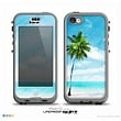The Paradise Beach Palm Tree Skin for the iPhone 5c nüüd LifeProof Case