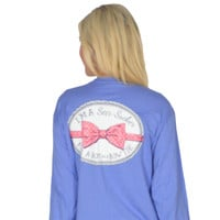 Seersucker for a Boy Long Sleeve Tee in Periwinkle Blue by Lauren James