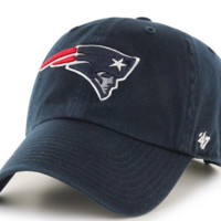 Forty Seven Brand New England Patriots Clean Up Hat in Navy