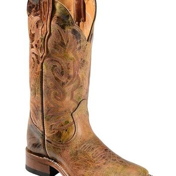 Boulet Distressed Multi Stitched Cowgirl Boots - Square Toe - Sheplers