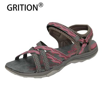 GRITION 2018 Beach Sandals Women Outdoor Flat Sandals Ladies Summer outdoor Sandals Women Shoes