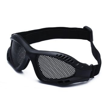 TacticalOutdoor Eye Protection Comfortable Airsoft Safety Tactical Glasses Goggles Anti Fog With Metal Mesh