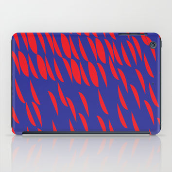 BLUE AND RED iPad Case by IN LIMBO ART | Society6