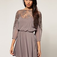 ASOS | ASOS Dress with Lace top at ASOS