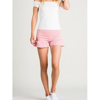 For the Frill of It Ruffle Shorts | Pink