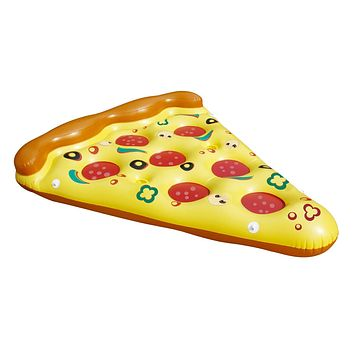 """70.5"""" Inflatable and Connectable Pizza Slice Novelty Swimming Pool Raft Float"""