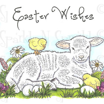 Spring Lamb - Rubber Stamp Set [00-588P7]