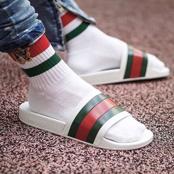 x1love :  Gucci Casual Fashion Women Sandal Slipper Shoes