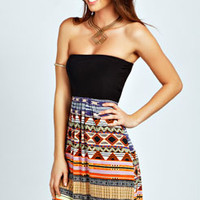 Katherine Contrast Bandeau Dress