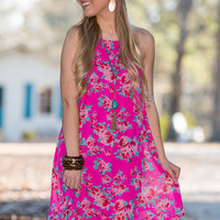 Want To Be Loved Dress, Fuchsia