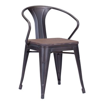 Helix Dining Chair Rustic Wood (Set of 2)