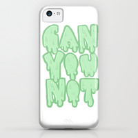 Can you not (in green) iPhone & iPod Case by Kimiidoll