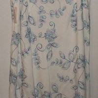 Dressbarn Skirt Size 16 White with Embroidery