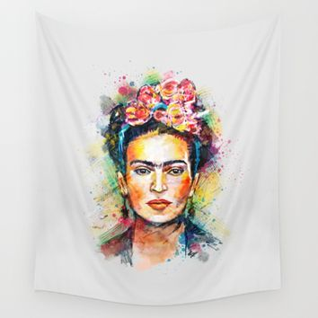 Frida Kahlo Wall Tapestry by Tracie Andrews