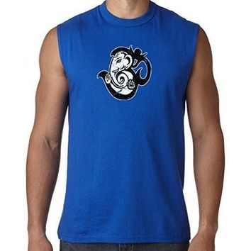 Yoga Clothing for You Mens OM Mashup Sleeveless Muscle Tee Shirt