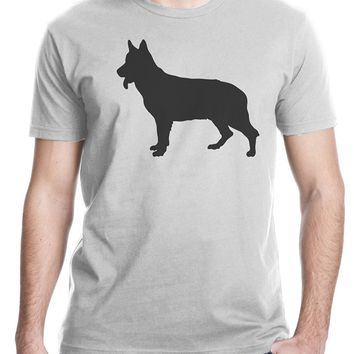 Shadow German Shepherd Dog T-Shirt - Men's Tops