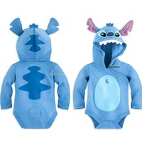 Licensed cool Lilo & Stitch Baby Bodysuit Costume with Hood Ears Tail Disney Store 6-24 Months