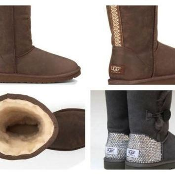 CREY1O Custom UGG Boots made with Swarovski Classic Tall Tasman Free: Shipping, Repair Kit, C