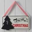 Sleeps Until Christmas Countdown Wooden Sign