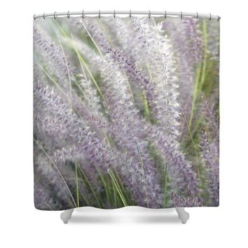 Grass Is More - Nature In Purple And Green Shower Curtain for Sale by Ben and Raisa Gertsberg