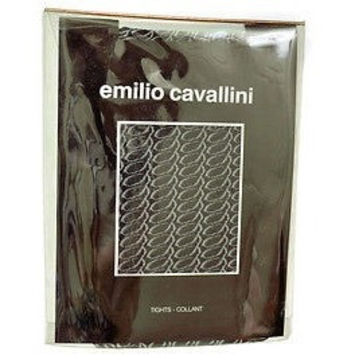 Emilio Cavallini Circles 703613 Tights Womens Hosiery Black Size S M