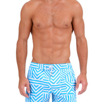 Men's BLOCK STRIPE Ibiza Swim Short : Men's Designer Classic Swim Shorts | 2(X)IST