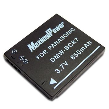 Maximalpower DMW-BCK7 Replacement Battery for Panasonic