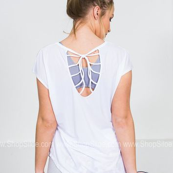 Athletic Sports Top | Strappy White