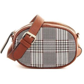 Plaid Print Crossbody