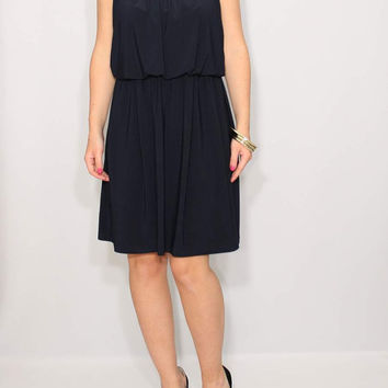Short Navy Bridesmaid Dress Summer dress party dress