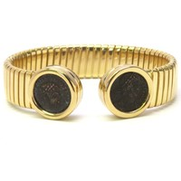 Bulgari Monete Ancient Coin Gold Cuff Bracelet