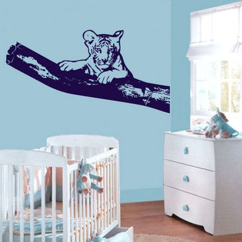 rvz580 Wall Vinyl Sticker Bedroom Decal Tiger Tree Nursery Kids Baby Room