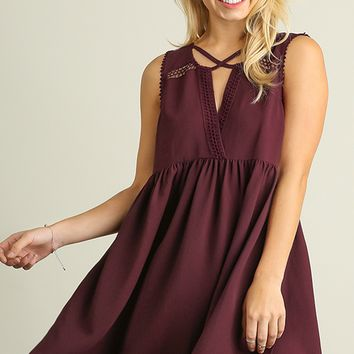 Cross Top Baby Doll Dress