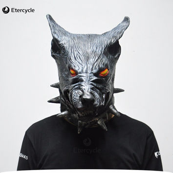 Scary Wolf Head Masks Halloween Creepy Animal Latex Party Mask Adult Cosplay Prop