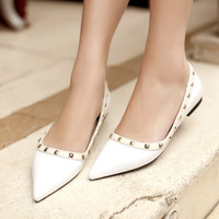 Summer Star Sexy Pointed Toe Low-cut Shoes [4920473732]