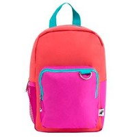 "Yoobi 11"" Backpack Lunch Bag with Water Bottle Pocket - Coral Color Block"