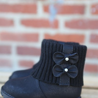 Ariel Bootie by Lucky Top {Black}