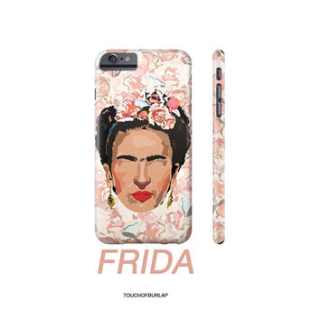Frida Kahlo Floral Peach Pink Apple IPhone case 4 5 5c 6 6s Plus floral Famous artist van gogh