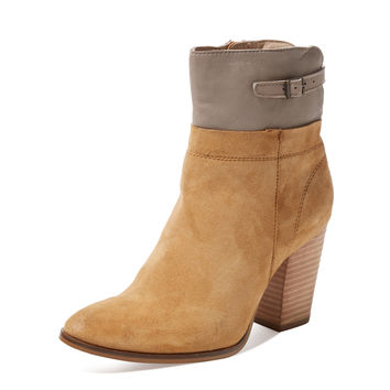 Seychelles Women's Fascinate Leather Boot - Cream/Tan -