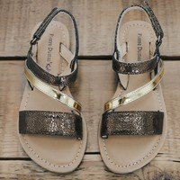 Girls Bronze Sandals