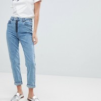Miss Selfridge Zip Detail Mom Jean at asos.com
