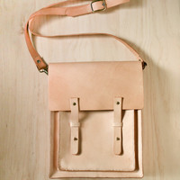 Nude Color Handmade vegetable tanned genuine leather by BySen
